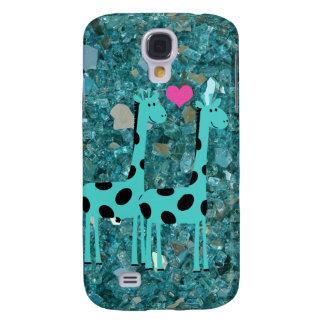 Jirafas en la galaxia S4 de Samsung del fondo de l Funda Para Galaxy S4