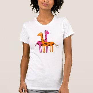 Jirafas lindas del dibujo animado camiseta
