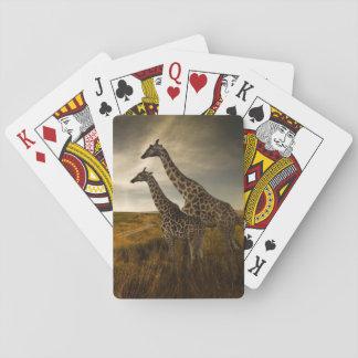 Jirafas y el paisaje baraja de cartas