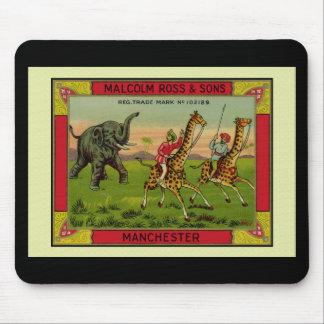 Jirafas y elefante tapetes de raton