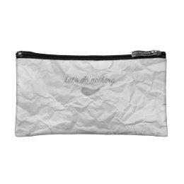 Jitaku Do Nothing White Wrinkled Cosmetic Bag