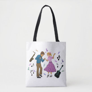 Jitter Bug Queen Tote Bag