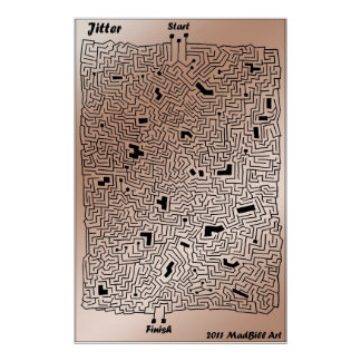 Jitter Maze Poster