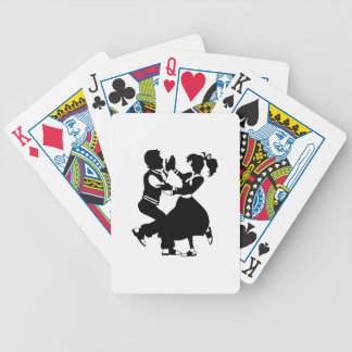 Jitterbug Silhouette Bicycle Playing Cards