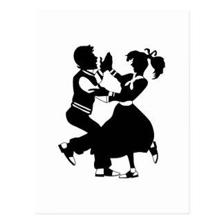 Jitterbug Silhouette Postcard