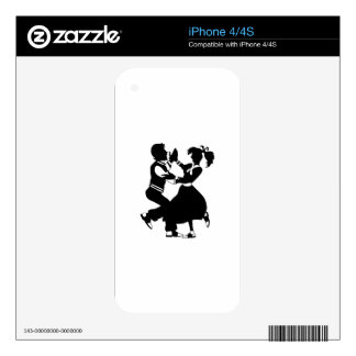 Jitterbug Silhouette Skin For iPhone 4