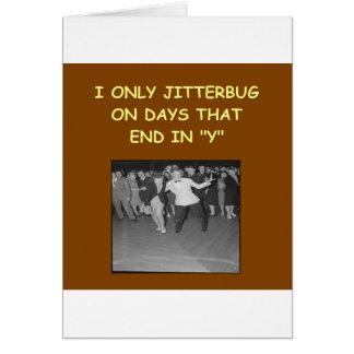 jitterbug tarjeta de felicitación