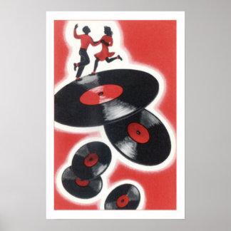 Jitterbugging en los discos posters