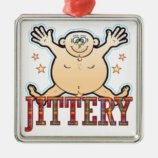 Jittery Fat Man Metal Ornament