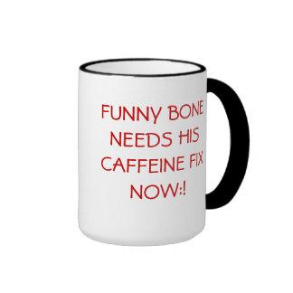 Jittery Funny Bone. Ringer Mug