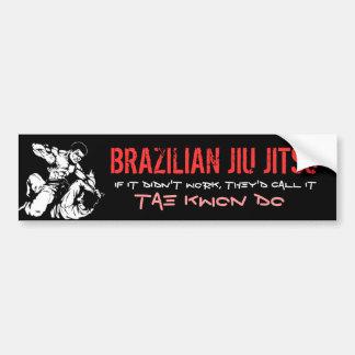 JIU BRASILEÑO JITSU ETIQUETA DE PARACHOQUE