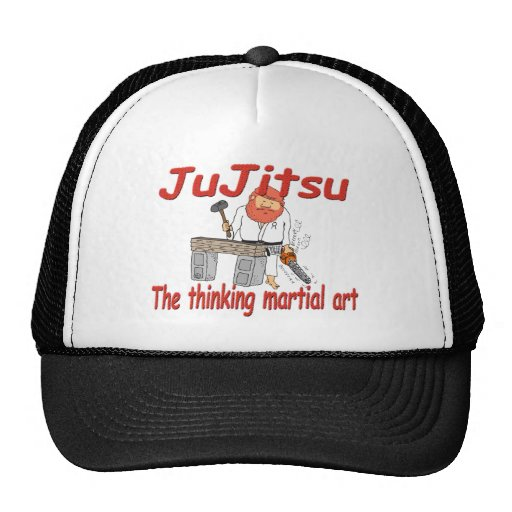 Jiu-jitsu 363 que piensa el dibujo animado del gorro de camionero