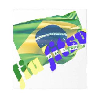 Jiu Jitsu con la bandera del Brasil Bloc