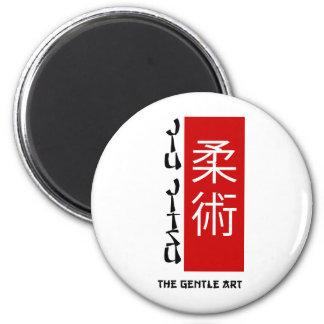 Jiu Jitsu - el arte apacible Imán Redondo 5 Cm