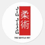 Jiu Jitsu - el arte apacible Pegatina Redonda