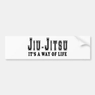 Jiu-Jitsu es manera de vida Pegatina Para Auto