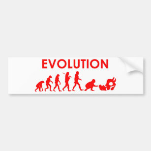 Jiu Jitsu Evolution Bumper Sticker