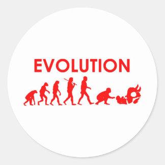 Jiu Jitsu Evolution Classic Round Sticker