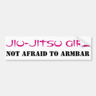 Jiu-Jitsu Girl Not Afraid to ArmBar Bumper Sticker
