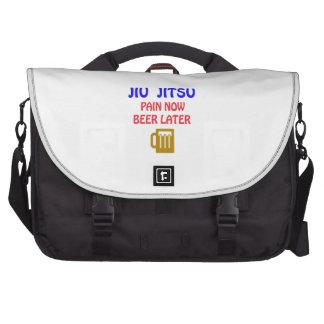 Jiu-Jitsu pain now beer later Laptop Commuter Bag