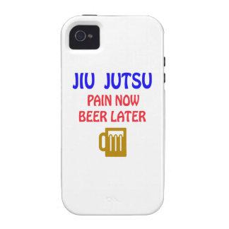 Jiu jutsu pain now beer later Case-Mate iPhone 4 covers
