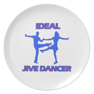 Jive dance designs party plate