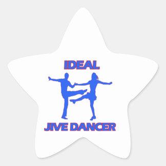 Jive dance designs star sticker
