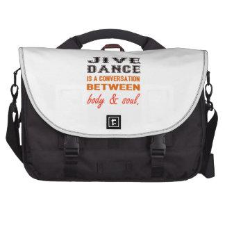 Jive dance is a conversation between body & soul computer bag