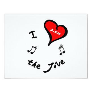 Jive Dance Items - I Heart the Jive Card