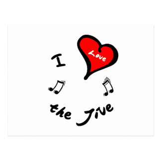 Jive Dance Items - I Heart the Jive Postcard