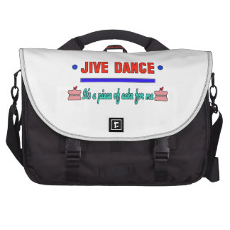 Jive dance It's a piece of cake for me Laptop Commuter Bag