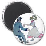 Jive Fun! swing dancing rock and roll 2 Inch Round Magnet