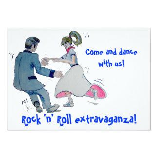 Jive Fun! swing dancing rock and roll 5x7 Paper Invitation Card