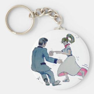 Jive Fun! swing dancing rock and roll Keychains