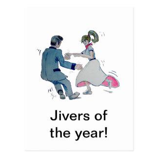 Jive Fun! swing dancing rock and roll Postcard