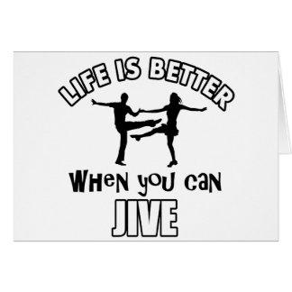 Jive los diseños y commercialice tarjeta de felicitación