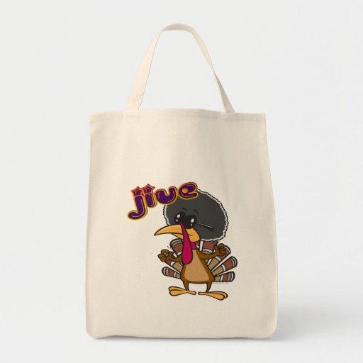jive turkey grocery tote bag