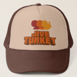 "Jive Turkey Retro Trucker Hat<br><div class=""desc"">My man is a fan of Black Dynamite and trucker hats. I made this for him as a gift but you just might be a jive turkey too!</div>"