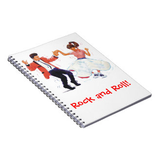 Jivers Classic 1950s Rock and Roll Dancing Cartoon Notebooks