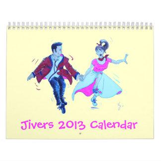 Jivers Dance Cartoon Calendar