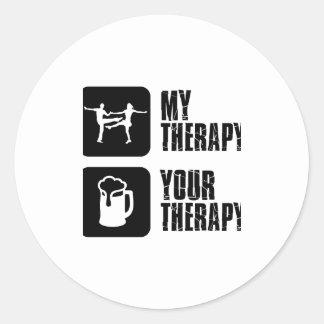 jives my therapy classic round sticker