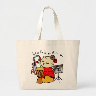 jiyanbototoshiyara child red large tote bag
