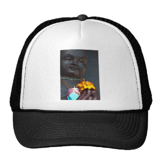 Jizo Buddha with Marigold Offering Trucker Hat