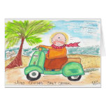 Jizo cruza playa de la cala de la sal tarjeta de felicitación