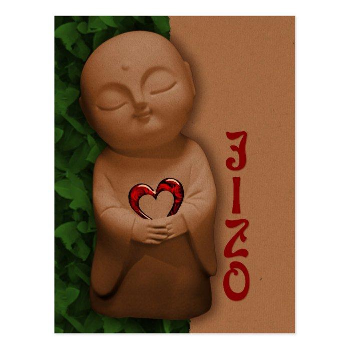 Jizō holding a heart CC0796 Sympathy Postcard