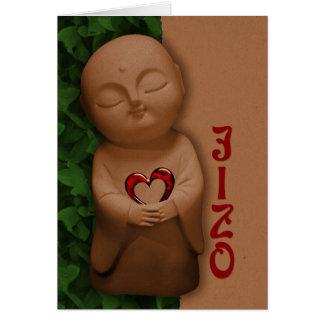 Jizō holding a heart CC0797 Sympathy Card