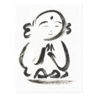 Jizo la postal del monje en blanco