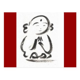 Jizo Red Postcard
