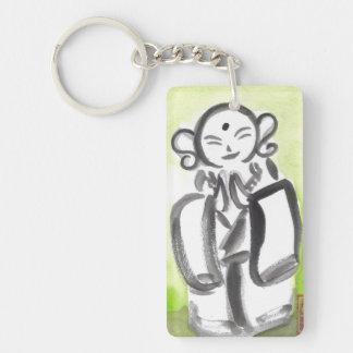 Jizo the Kind Monk Keychain