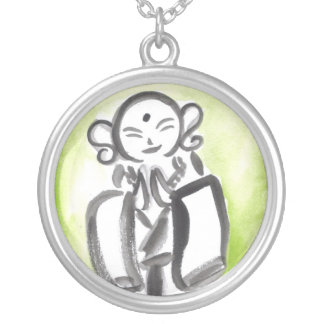 JIzo the Monk in Green Necklace